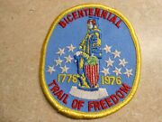 Bicentennial 1776 - 1976 Trail Of Freedom Hike Patch Twill New Mint Np05