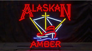 Neon Signs Gift Alaskan Amber Beer Bar Pub Party Store Room Wall Decor 24x24