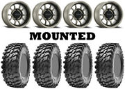 Kit 4 Maxxis Rampage Tires 32x10-15 On Method 409 Bead Grip Gray Wheels Can