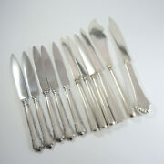 11 Mixed Antique Danish Silver Plate Small Knives