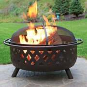 Stove Wood Burning Fire Pit Backyard Portable Patio Heater Outdoor Fireplace