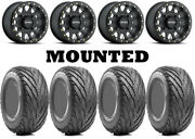 Kit 4 Afterburn Street Force 26x9-14/26x11-14 On 401 Beadlock Matte Black 1kxp