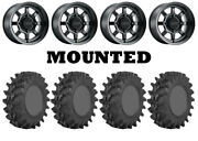 Kit 4 Sti Outback Max Tires 30x9.5-14 On Method 410 Bead Grip Matte Black Can