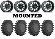 Kit 4 Sti Outback Max Tires 30x9.5-14 On Method 409 Bead Grip Matte Black Can