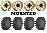 Kit 4 Sti Outback Max Tires 28x10-14 On Method 410 Bead Grip Gold Wheels Can