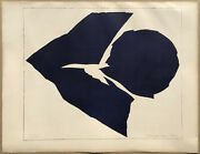 Mid-century Modern Abstract Forms 1963 Lithograph Jack Youngerman