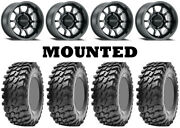 Kit 4 Maxxis Rampage Tires 32x10-15 On Method 409 Bead Grip Matte Black Fxt
