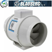 Blauberg Uk Turbo E High Power In Line Mixed Flow Extractor Fan Timer- 4 5 6