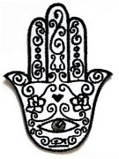Hamsa Hand Evil Eye Amulet Embroidered Iron On Sew On Patch