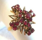 The Biggest And Best Vintage 14kt Gold And Natural Ruby Cocktail Ring Sz 8