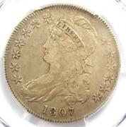 1807 Capped Bust Half Dollar 50c Coin Large Stars - Pcgs Vf30 - 1,650 Value