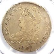 1807 Capped Bust Half Dollar 50c Coin Large Stars - Pcgs Vf30 - 1650 Value