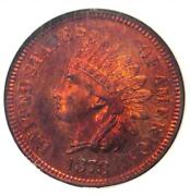 1878 Proof Indian Cent 1c Penny - Ngc Pr66 Rb Cameo Pf66 - 5,500 Value