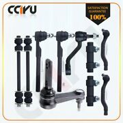Suspension And Steering 10pcs Parts Pitman And Idler Arm Sway Bar Link Tie Rod End