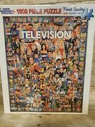 White Mountain Puzzles 10312 Television History Sealed 1000 Piece Puzzle
