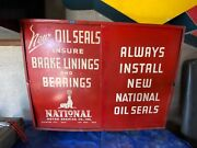 Vintage Auto Parts Cabinet National Motor Bearing Co.