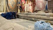 Bohemian Antique 1939and039s Muted Colors Wool Pile Armenian Oushak Rug 5andrsquo1andtimes9and039