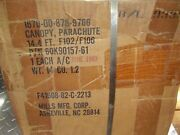 New Us Military 14'.4 Ring Slot Parachute In The Original Box