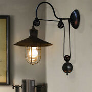 Farmhouse Pulley Wall Sconce Lamp Retro Industrial Nautical Outdoor Wall Light