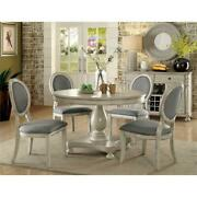 Furniture Of America Chlido 48-inch Round Wood Dining Table In Antique White