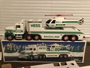 1995 Hess Toy Truck And Helicopter Great Airline Pilot Gift