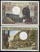 Mali 1000 Francs P13e 1970 France Mountain Unc Currency Papermoney Bill Banknote