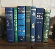 Decorative Vintage Book Lot Of 7 Jewel Tones Library Home Decor Staging Props