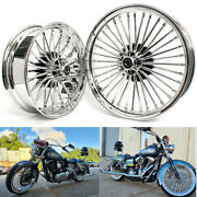 21 And 18 Front Rear Cast Wheels Single Disc Fat King Spoke Softail Touring Dyna