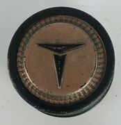 Vintage Toyota Wheel Center Cap 3 Wide 2 1/4 Tall No P/nand039s Black And Gold