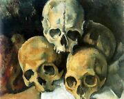 Pyramid Of Skulls By Paul Cezanne Painting Artwork Paint By Numbers Kit Diy