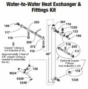 Central Boiler Water-to-water Heat Exchanger And Fittings Kit