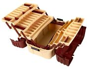 Fishing Tackle Box Outdoor Sports Accessory Organizer 7 Tray Storage Brown