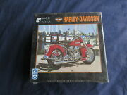 New Fx Schmid Harley Davidson 1000 Piece Puzzle 2006 Factory Sealed