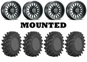 Kit 4 Sti Outback Max Tires 28x9.5-14 On Method 411 Bead Grip Matte Black Can