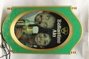 Ballantine Ale Lighted Beer Sign 19 X 12 Works Scarce 1970's Black Advertising