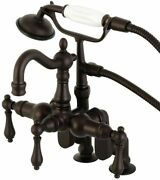 Kingston Brass Vintage Clawfoot Tub Faucet And Hand Shower, Oil Rubbed Bronze New