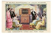 Postcard French Furniture Cabinet For T.s.f. Radio Advertising Np