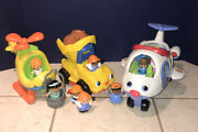 Little People Lot Plane, Helicopter And Dump Truck With 10 Figures