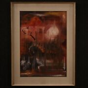 Painting Framework Oil On Canvas With Frame Signed Abstract Modern Art 900