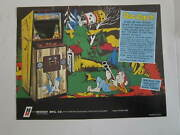 Bally Strikes And Spares Pinball Ad And Midway Dog Patch Arcade Game Magazine Ad