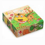Jungle Animal Wooden Toys Kids Educational Play Puzzle Games Brain Training Lp