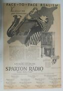 Sparton Radio Ad Face-to-face Realism From 1929 Size 12 X 17 Inches