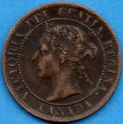 Canada 1895 1 Cent One Large Cent Coin - Ef