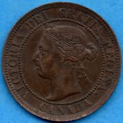 Canada 1895 1 Cent One Large Cent Coin - Ef/au