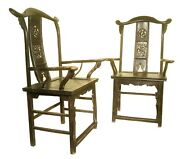 Antique Chinese High Back Arm Chairs 5698, Circa 1800-1849