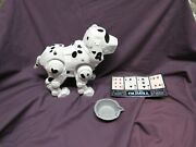 Vintage 90's Manley Quest Tekno White Puppy Dog Interactive Robot Toy Works