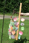 Gift For Mom Pastel Color Seashell Windchime Beach Lights 35 Inch G-51