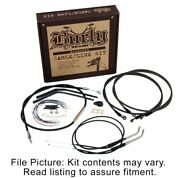 Burly Brand 14 Jail Bar Brake Clutch Cable Kit Harley Softail M8 W/ Abs 18-up