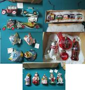 Polonaise Poland Christmas Ornaments Glass In Original New Wooden Box Pick1