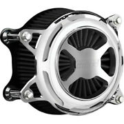 Vance And Hines Chrome Vo2 X Air Cleaner Filter Intake Harley Softail Dyna 99-17